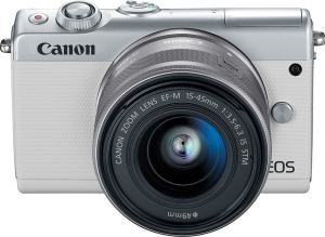 Canon EOS M100 Specs; - camera front side