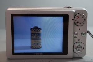 Fujifilm FinePix J110W Manual - camera rear side