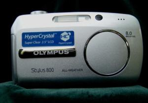 Olympus Stylus 800 Manual - front face