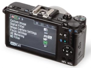 Pentax Q10 manual - camera back side