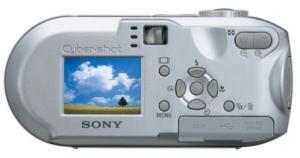 Sony DSC-P73 Manual - camera rear side