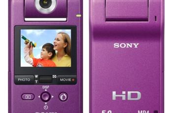 Sony MHS-PM1 Manual-camera front and rear side