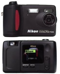 Nikon Coolpix 700 Manual - camera front and rear side