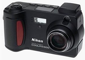 Nikon Coolpix 800 Manual - camera front side