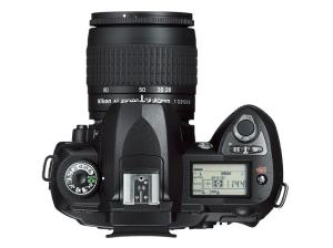 Nikon D70S Manual - camera top side