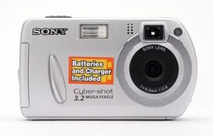 Sony DSC-P32 Manual - camera front face