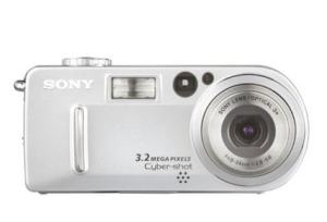 Sony DSC P7 Manual - camera front side