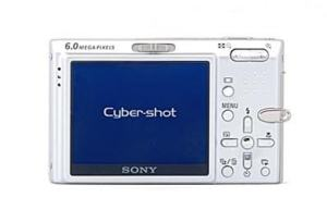 Sony DSC T9B Manual - camera rear side