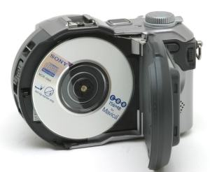 Sony MVC-CD400 Manual - camera with CD Room opened