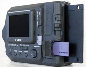 Sony MVC-FD100 Manual - camera rear side