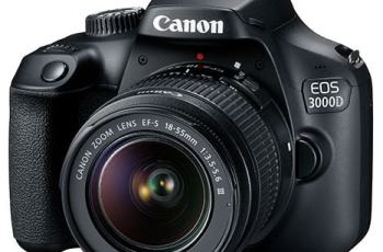 Canon EOS 3000D Review; Camera Front face