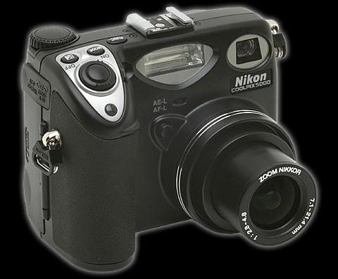 Nikon CoolPix 5000 Manual - camera front side