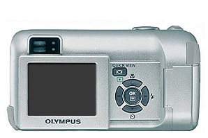 Olympus C-450Z Manual - camera rear side
