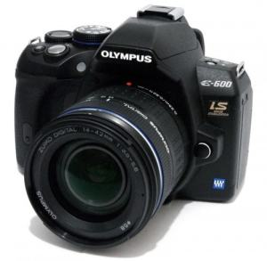 Olympus E-600 Manual - camera front face