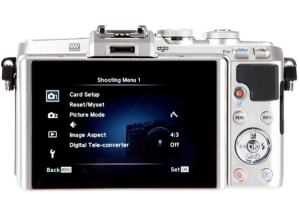 Olympus E-PL7 Manual - camera rear side