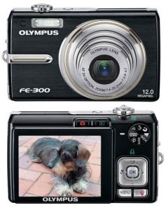 Olympus FE-300 Manual - camera front and back side