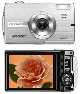 Olympus SP-700 Manual - front and back side