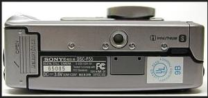Sony DSC F55 Manual - camera side