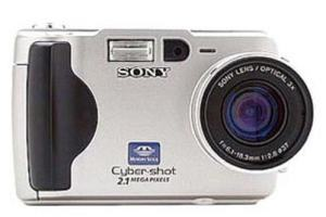 Sony DSC S30 Manual - camera front face