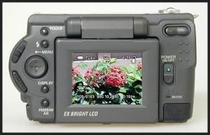 Sony DSC S30 Manual - camera rear side
