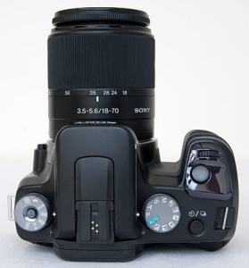 Sony DSLR-A100H Manual - camera top plate