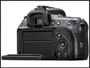 Sony DSLR A550L Manual - camera rear side