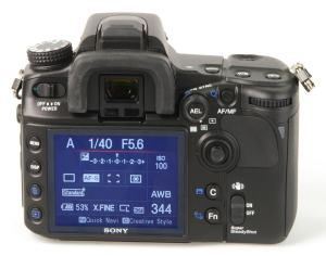 Sony DSLR A700P Manual - rear side
