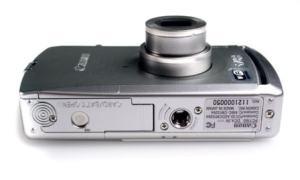 Canon PowerShot SD430 Manual - camera side