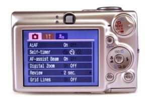 Canon PowerShot SD550 Manual - camera rear side