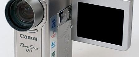 Canon PowerShot TX1 Manual - camera front face