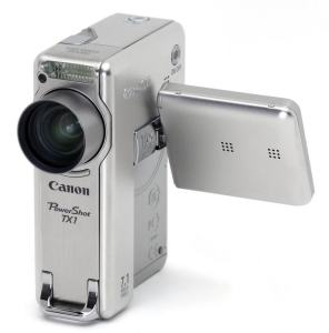Canon PowerShot TX1 Manual - camera with flipped lens