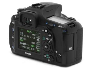 Pentax K20D Manual - camera rear side
