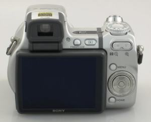 Sony DSC H9 Manual - camera rear side