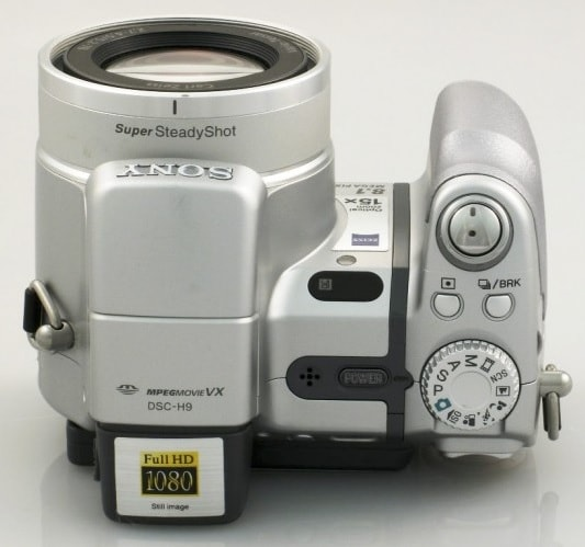Sony DSC H9 Manual - camera top plate