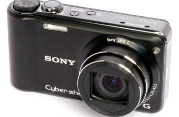 Sony DSC HX5 Manual - camera front face