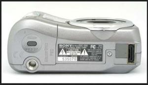 Sony DSC S60 Manual - camera side