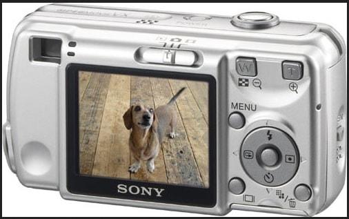 Sony DSC S600 Manual - camera rear side