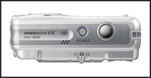 Sony DSC S600 Manual - camera side