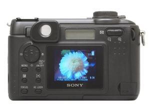 Sony DSC-S85 Manual - camera rear side
