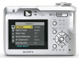 Sony DSC-S90 Manual - camera rear side