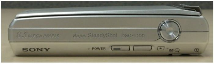 Sony DSC T100 Manual - camera side