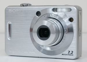 Sony DSC W55BDL Manual - camera front face