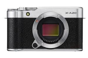 Fujifilm X-A20 camera front side