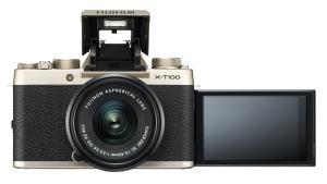 Fujifilm X-T100 - selfie screen