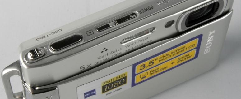 Sony DSC T200 Manual - camera top side