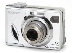 Sony DSC W7 Manual - camera front face