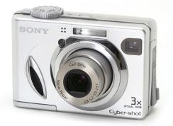 Sony DSC W7 Manual - camera front face