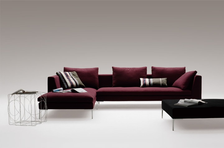 plum sofas uk leather sofa toronto canada berry tones modern designer furniture and a nice example is shown below demonstrating this there purple coloured lacquer drawer with the wall colour dark headboard