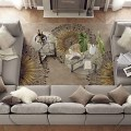 The u shape sofa concept has been popular since the introduction of