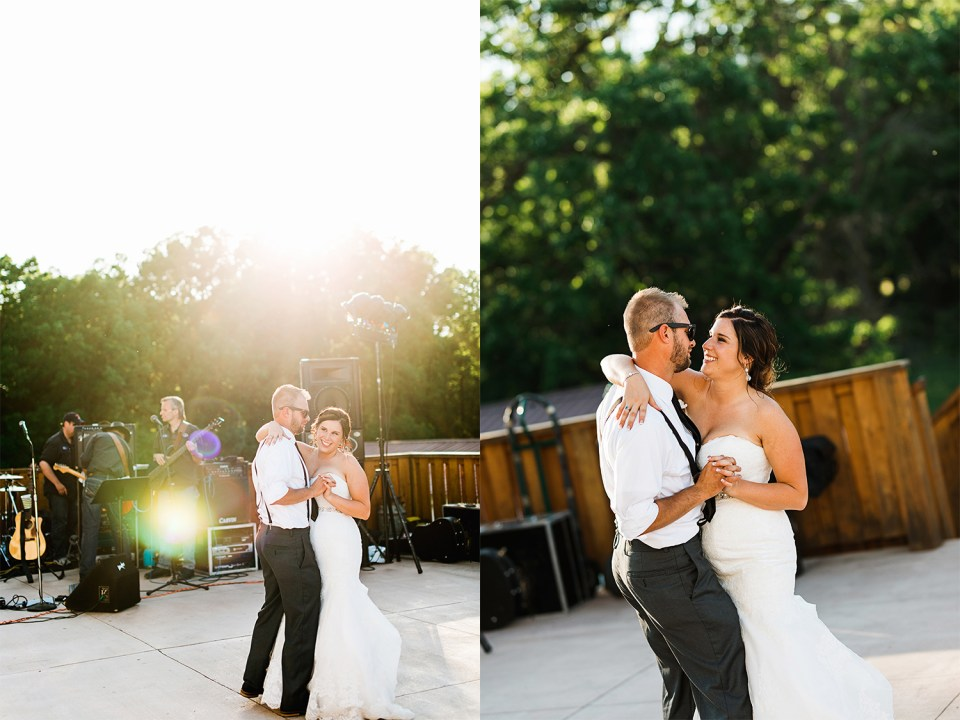 Rum River Barn & Vineyard First Dance on the patio